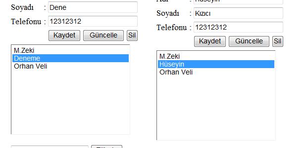 XML ile Telefon Defteri Yapalım 3!!