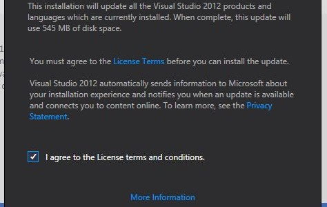 Visual Studio 2012 Update 1 Now Available