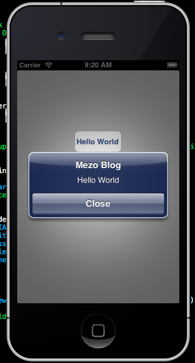 Iphone Programming – AlertView (MessageBox)