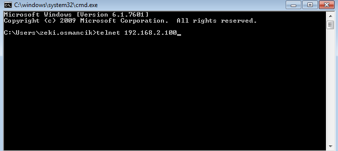 Command Prompt Telnet Hatası